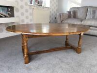Medium oak coffee table