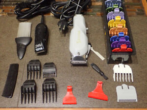 Wahl Senior Professional Clipper, color combs and Wahl Peanut