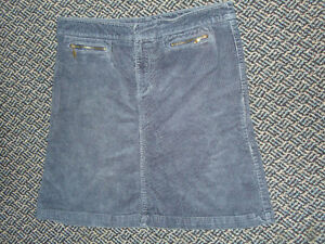 Ladies Size 11 Corduroy Stretch Navy Skirt by SMART SET