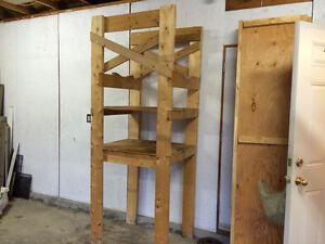 Wooden Garage Storage Shelf