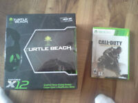 COD AW and Turtle beach headset for sale