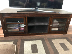 "Wooden TV Stand fits up to 60"" TV"