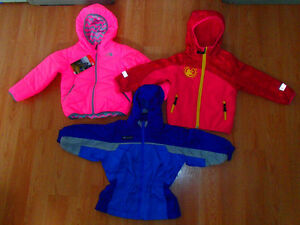 THE NORTH FACE PERRITO,MC KINLEY,COLUMBIA RAIN JACKET,3 TODDLER