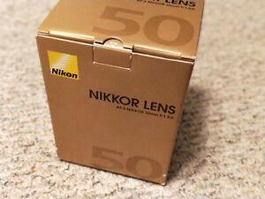 Nikon 50mm AF-S f1.8G - BNIB