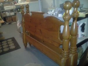 Solid Pine headboard and footboard. St. John's Newfoundland image 1