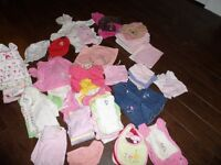 Huge lot of Girls Clothing - Size 0-3 months