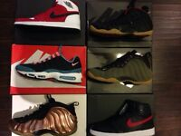 Jordans and nikes and foamposites 10.5-11
