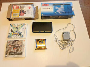 Near Mint Condition 3DS XL with 2 Games, R4 for DS games