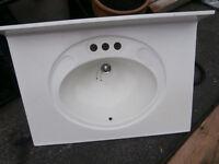 1 ceramic square SINK WHITE 31x22 just sink one piece $35 1 cera