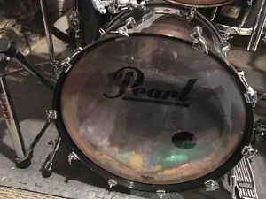 Drum Kit 6 pieces Pearl Pasters Studio Birch + cymbales + cage