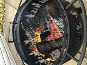 FIREPIT W/ cooking grill, cover and poker BRAND NEW IN BOX