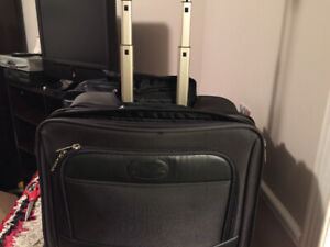 Roller bag suitcase/laptop case on wheels with long handle