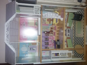 Dollhouse- about 4ft and working elevator