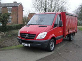 2012(62) MERCEDES SPRINTER 313 CDI (air con) CURTAIN SIDED BOX - FSH - ONE OWNER