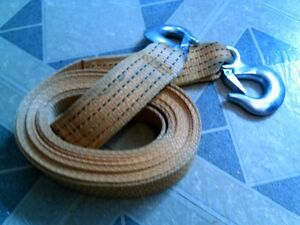 Towing Strap with Two Towing Hooks New/Unused 5 Ton Rated