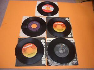 VINTAGE 45S RECORDS 70S AND 80S MEAT LOAF, ASIA, AC/DC ETC London Ontario image 2