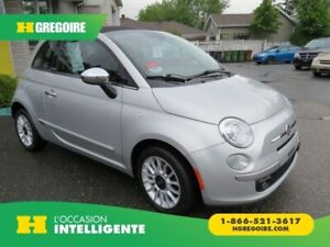 2012 Fiat 500c Lounge MAN A/C MAGS CUIRBLUETOOTH GR ELECTRIQUE
