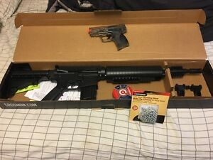 Air powered M417 & Smith and Wesson BB  (Brand New)