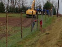 Agricultural fence installation