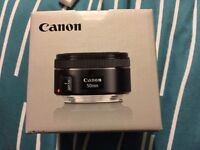 Canon 50mm f/1.8 STM Lens Boxed in Excellent Condition
