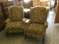 Wing back recliner chairs $45 each