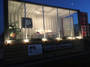 Shipping Container Popup Store with Chassis Trailer - 20 ft
