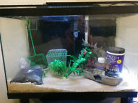 20 gallon Fish tank w/ stand #Awesome