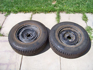 215/70/15 studded winter tires on dodge Ford rims