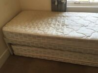 Layezee '3-in-1' single/double bed with spare guest bed underneath which makes a large double.