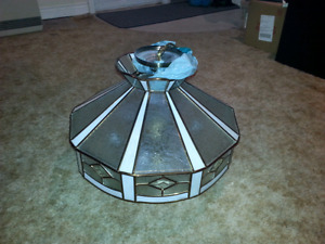 Tiffany style hanging light fixture