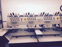 Melco 4 Head Computerized Embroidery Machine