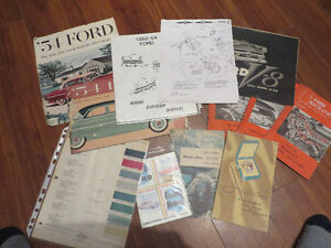 1954 Ford Collection of Rare Brochures--Booklets--Rare