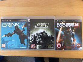 Brink, Fallout 3 and Mass Effect 3 for PS3