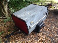 Trailer 4 by 3 with lock a ball lid