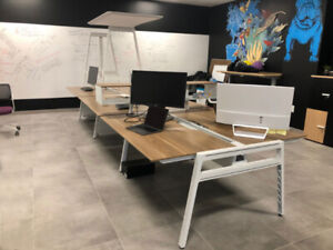Bivi Office Desk for 6 People, High End Office Furniture