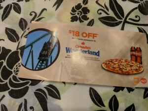 Canada's Wonderland Vouchers $18 off for up to 4 people!!