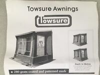 Towsure Insignia Porch Awning. For Caravan. Never used