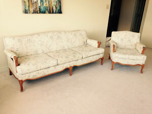 Sofa with matching chair