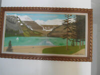wood framed beautful picture
