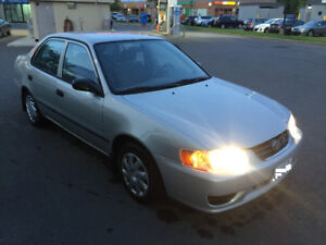 2002 toyota corolla CE with SAFETY CERTIFIED&EMISSION