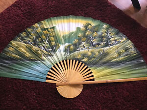 Large Decorative, unique WALL FAN 5' x3' in size