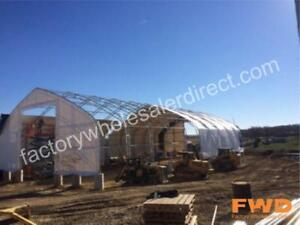 New 40'-70' Wide Coverall Fabric Buildings|Portable Canvas Storage Structures| Easy Setup | Plus Free Accessories!
