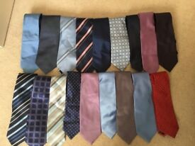 18 x ties from various shops next, slaters etc