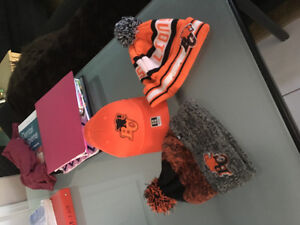 BC Lions hat and toques.