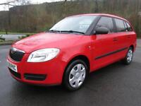 09/09 SKODA FABIA 1 HTP 1.2 12V ESTATE IN RED