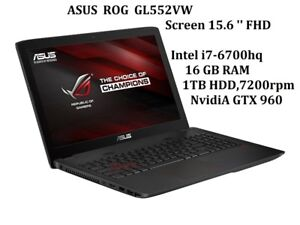 ASUS MSI GAMING LAPTOPS 15 inch 17 inch , i7 , i5 16GB 1TB 256GB