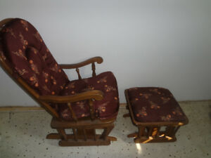 Glider Rocker and Glider Ottoman
