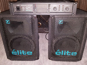 elite 10 speakers and Qsc amplifier