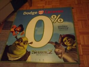 4 SHREK COLLECTORS ITEMS:GIANT JUMBO POSTERBOARD + 2DVD+FIGURE