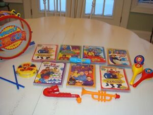 Wiggles dvd and band set collection